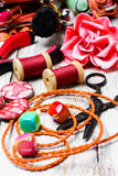 Pliers,beads, and womens accessories Stock Photos