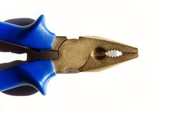 Pliers with blue grip Royalty Free Stock Photo
