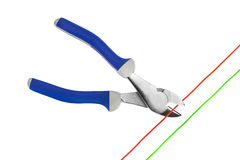 Pliers and cable Royalty Free Stock Photography