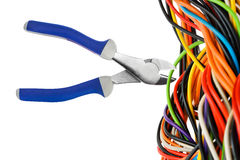 Pliers and cable Stock Photo