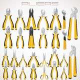Pliers. Collection of Fastening Tools. Icon Stock Photo