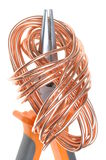 Pliers with copper wire Stock Photos