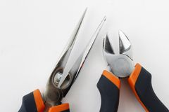 Pliers hand tool for general purpose. For maintenance stock photos