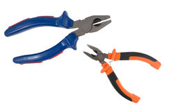 Pliers isolated on a white Royalty Free Stock Photo