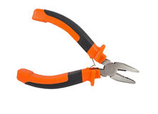 Pliers isolated on a white Stock Images