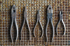 Pliers on Metal Stock Images