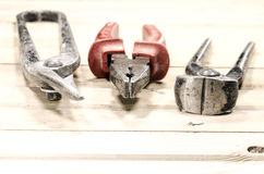 pliers, pincers, scissors Royalty Free Stock Photos