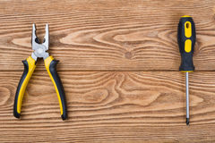 Pliers and screwdriver Royalty Free Stock Image