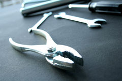 Pliers, scrow & wrenches Royalty Free Stock Photos