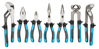 Pliers set Stock Photography
