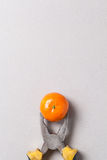 Pliers and tangerine Royalty Free Stock Photo