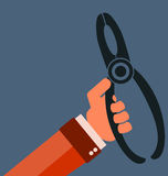 Pliers. On a white background vector illustration