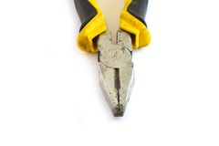 Pliers on white. Royalty Free Stock Image