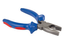 Pliers on a white Royalty Free Stock Images