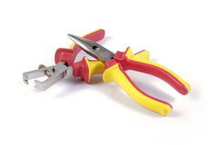Pliers and wire stripper Royalty Free Stock Images