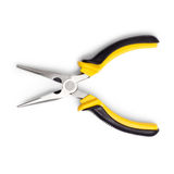 Pliers yellow open isolated white background Royalty Free Stock Images