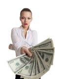 plika biznesowi pieniądze oferty kobiety potomstwa Obrazy Royalty Free