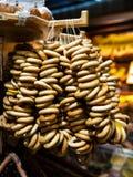Pliki bagels przy jarmarkiem Zamyka up świeżo piec ciasto Obrazuje brać przy wiosna jarmarkiem w rynku zdjęcie stock