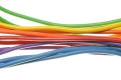 Pliki elektryczni komputerowi kable Fotografia Royalty Free