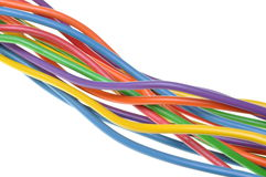 Pliki elektryczni komputerowi kable Obraz Stock