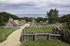 Plimoth koloni på Plymouth, MOR royaltyfria foton