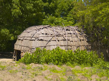 Plimoth Plantation. A Wampanoag Indian hut at Plimoth Plantation in Plymouth, MA Stock Image