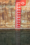 Plimsol Line or load line Royalty Free Stock Images