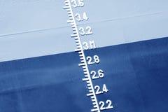Plimsoll-Kennzeichen auf dem Schiff Lizenzfreie Stockfotografie