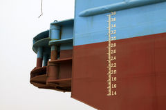 Plimsoll mark on the ship Royalty Free Stock Images