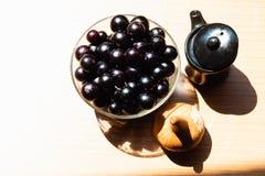 Jabuticaba fruit with textured background. stock photo