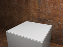 Plinth with dirty background Stock Photography