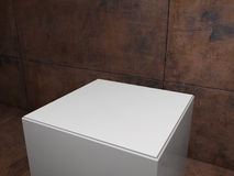 Plinth with dirty background Royalty Free Stock Images