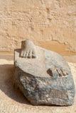 plinth Karnak Tempel, Luxor, Ägypten lizenzfreie stockbilder