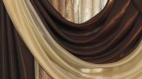 Plis de fragment sur la cantonnière de rideau Images libres de droits