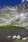5 plis de Spisskych - tarns dans haut Tatras, Slovaquie Image libre de droits