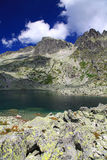 5 plis de Spisskych - tarns dans haut Tatras, Slovaquie Images stock