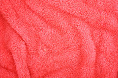 Plis mous de serviette éponge rose Image libre de droits