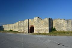 Pliska la capital medieval de Bulgaria foto de archivo
