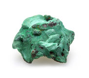 Plisovy malachite on white Royalty Free Stock Images
