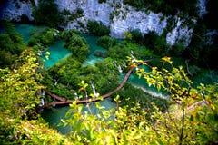 Plitvica.National πάρκο Στοκ Εικόνα