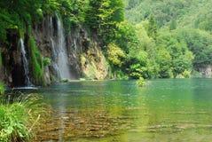 Plitvica national park. Beautiful national park Plitvica lake in Croatia Royalty Free Stock Photo