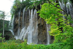 Plitvica national park. National park plitvica lakes in Croatia. It is national park with hundrets of lake with beautiful blue and green water Royalty Free Stock Photography