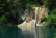 Plitvica national park. National park plitvica lakes in Croatia. It is national park with hundrets of lake with beautiful blue and green water Stock Image