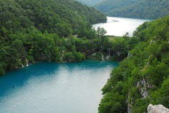 Plitvica national park. National park plitvica lakes in Croatia. It is national park with hundrets of lake with beautiful blue and green water Stock Images