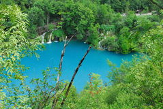 Plitvica national park. National park plitvica lakes in Croatia. It is national park with hundrets of lake with beautiful blue and green water Stock Photography