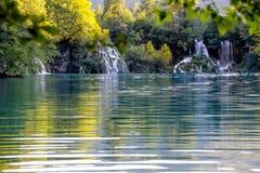Plitvice国家公园在克罗地亚 免版税库存图片
