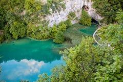 Plitvice国家公园在克罗地亚 图库摄影