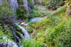 Plitvice国家公园在克罗地亚 免版税图库摄影