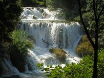 Plitvice湖和瀑布在克罗地亚 免版税库存照片
