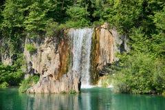 Plitvice湖小瀑布 免版税库存图片